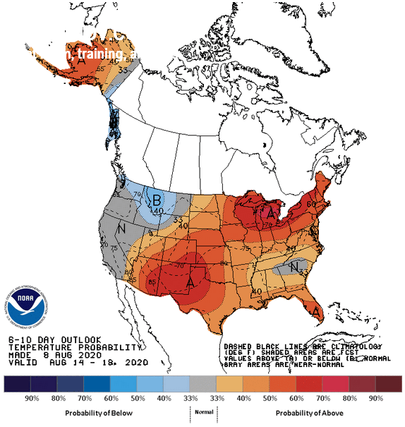 Natural Gas market Weekly Weather Forecast