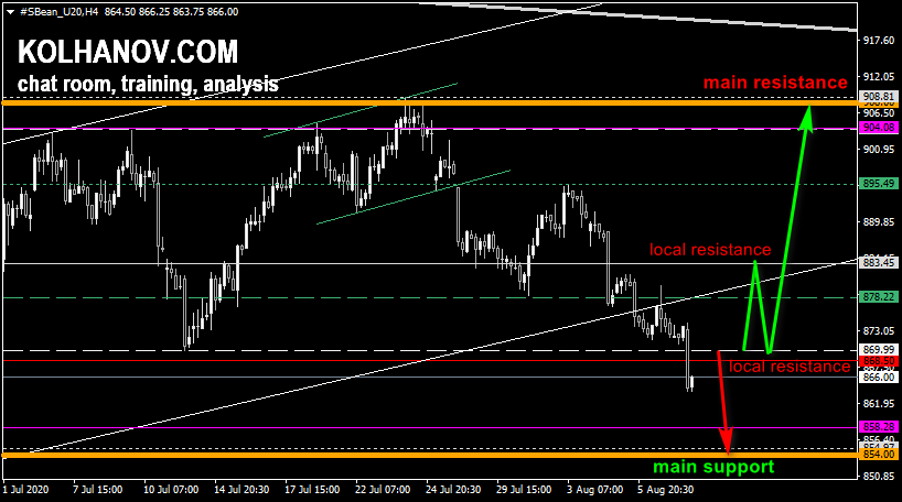 Chart Soybean This/Next Week Forecast, Technical Analysis
